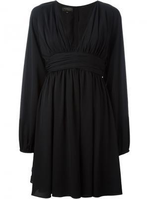 Платье с V-образным вырезом Giambattista Valli. Цвет: чёрный