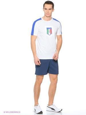 Футболка FIGC  Fanwear Badge Tee Puma. Цвет: белый