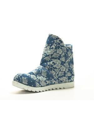 Ботинки AZ-ART. Цвет: белый, голубой