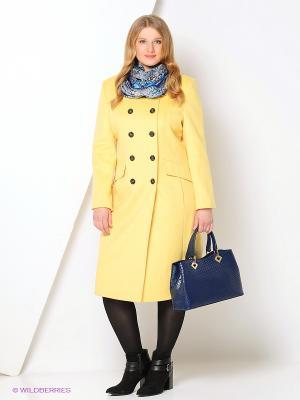 Пальто Gamelia. Цвет: синий, желтый