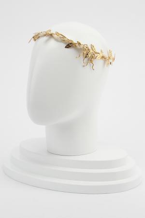 Повязка для волос Eugenia Kim. Цвет: золотой