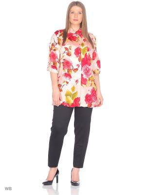 Блузка BERKLINE. Цвет: розовый, красный