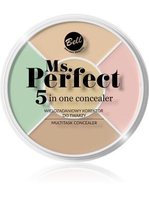 Bell Многофункциональный Корректор Для Лица Ms.perfect 5inone Concealer .. Цвет: белый
