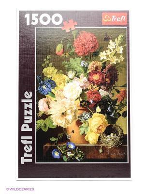 Пазл Натюрморт с цветами Trefl. Цвет: бордовый