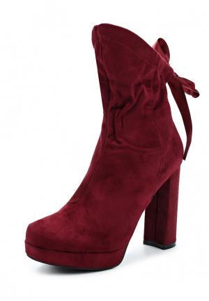 Ботильоны Sweet Shoes. Цвет: бордовый