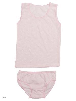 Комплект белья Babycollection. Цвет: бледно-розовый
