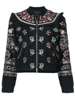 Floral embroidered bomber jacket Needle & Thread. Цвет: чёрный