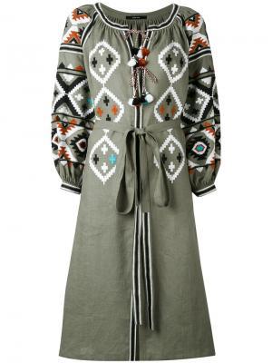 Платье Fatimas Eye Vita Kin. Цвет: зелёный