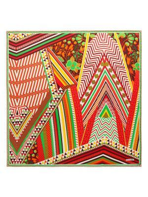 Платок Eleganzza. Цвет: зеленый, белый, бордовый, желтый, красный, оранжевый, салатовый