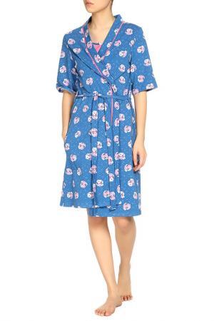 Комплект: халат и сорочка ALFA. Цвет: розовый
