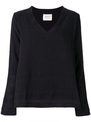 Блузка с V-образным вырезом Cecilie Copenhagen. Цвет: чёрный