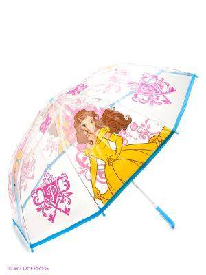 Зонт детскийский Играем Вместе прозрачный Дисней принцессы. Цвет: желтый, розовый