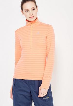 Лонгслив спортивный Salomon. Цвет: оранжевый