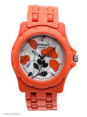 Часы Sprout. Цвет: светло-коралловый
