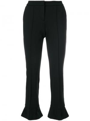 Cropped kick flare tailored trousers Cambio. Цвет: чёрный