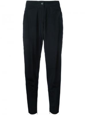 Укороченные брюки с молниями на щиколотках Barbara Bui. Цвет: чёрный