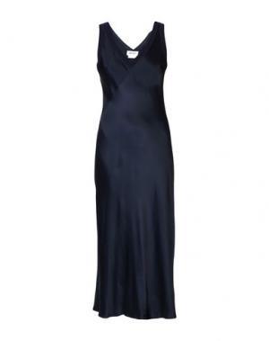 Длинное платье DKNY. Цвет: темно-синий