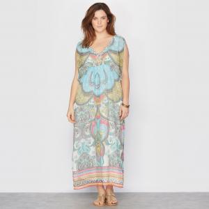 Платье длинное с рисунком TAILLISSIME. Цвет: рисунок пейсли