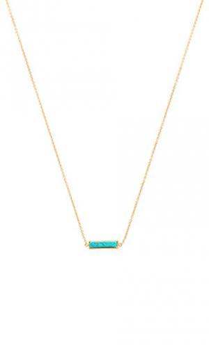 Ожерелье с подвесом dez gorjana. Цвет: металлический золотой