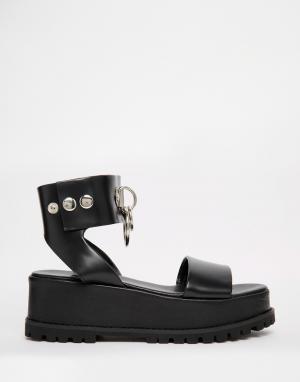 UNIF Черные сандалии на толстой подошве Vault. Цвет: черный