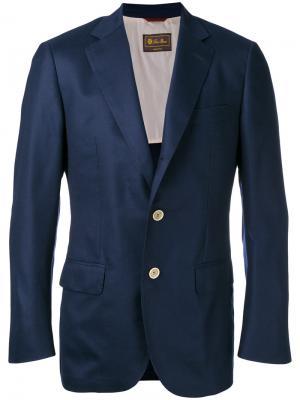 Buttoned blazer Loro Piana. Цвет: синий