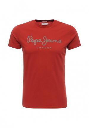 Футболка Pepe Jeans. Цвет: красный