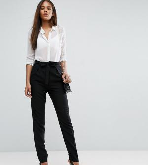 ASOS Tall Тканые брюки‑галифе с поясом оби. Цвет: черный