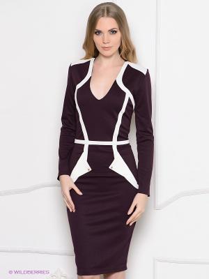 Платье Enna Levoni. Цвет: сливовый, белый