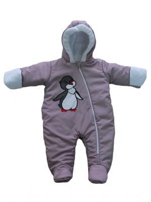Комбинезон Пингвиненок Дашенька. Цвет: лиловый