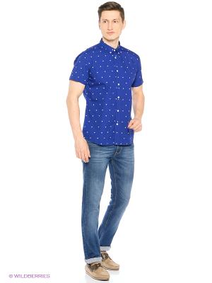 Рубашка Springfield. Цвет: синий, белый