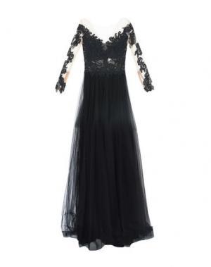 Длинное платье RHEA COSTA. Цвет: черный
