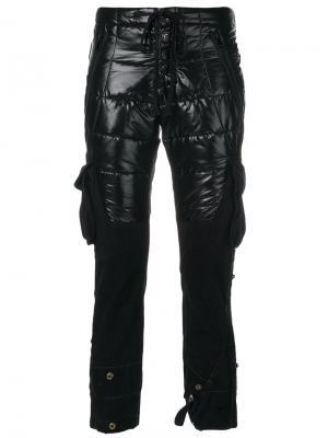 Брюки карго со вставками Moncler X Greg Lauren. Цвет: чёрный