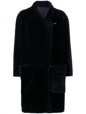 Свободное пальто Petar Petrov. Цвет: синий