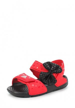 Сандалии adidas. Цвет: красный