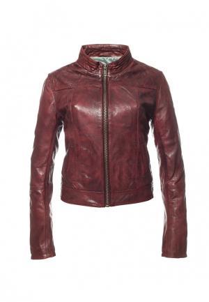 Куртка Московская меховая компания. Цвет: бордовый