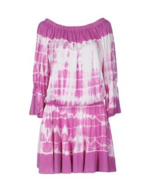 Короткое платье MONICA •LENDINEZ. Цвет: пурпурный