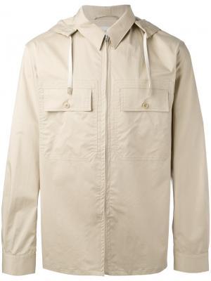 Куртка с капюшоном Lemaire. Цвет: телесный