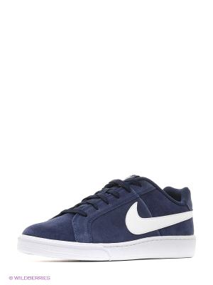 Кеды NIKE COURT ROYALE SUEDE. Цвет: синий, белый