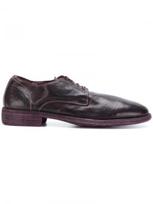 Ботинки Дерби Guidi. Цвет: розовый и фиолетовый