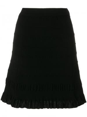 Фактурная трикотажная юбка Kenzo. Цвет: чёрный