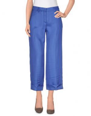 Повседневные брюки TRUE ROYAL. Цвет: пастельно-синий