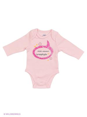 Боди с длинным рукавом Modis. Цвет: бледно-розовый, розовый, молочный