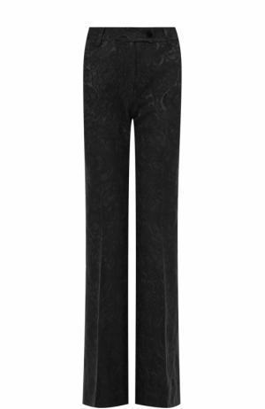 Расклешенные брюки с фактурной отделкой Kiton. Цвет: черный