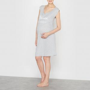 Сорочка ночная для беременных COCOON. Цвет: серый