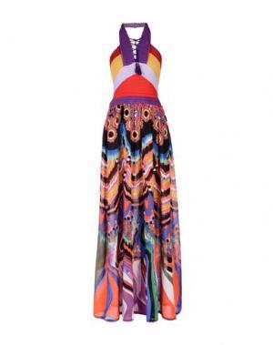 Длинное платье ROBERTO CAVALLI. Цвет: фиолетовый