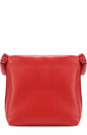 Кожаная сумка с декорированным ремнем The Row. Цвет: красный