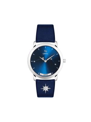Часы ювелирные лимитированная коллекция Galaxy Aries-Овен QWILL. Цвет: синий