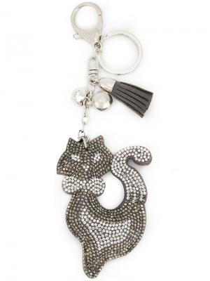 Брелок в виде декорированного кота Marc Cain. Цвет: серый