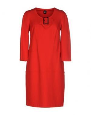 Короткое платье 1-ONE. Цвет: красный