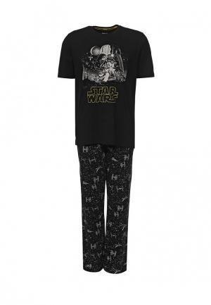 Пижама Marks & Spencer. Цвет: черный